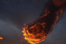 'La Mano de Dios', una 'bola de fuego' en el cielo de Madeira que se convierte en viral