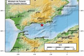 Un terremoto de 4,5 grados en el mar de Alborán se percibe en Almería, Granada y Málaga