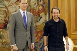 Iglesias confirma al Rey que votaría no a un gobierno de PSOE y Ciudadanos