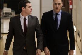 Rivera y Sánchez acuerdan dar prioridad a la lucha contra el paro y la corrupción