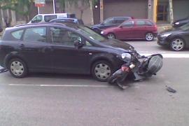 Hospitalizado en estado grave un motorista de 18 años tras sufrir un accidente en Palma