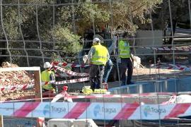 Un trabajador herido de gravedad por un corrimiento de tierras en Formentera