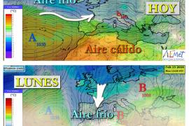 Un frente frío congelará el termómetro a partir del domingo