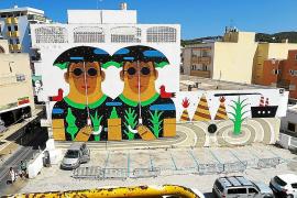 Sant Antoni se queda sin uno de los murales gigantes del Bloop Festival