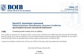 El alcalde de Sant Antoni despidió a Ángeles Gallardo y la volvió a contratar al día siguiente