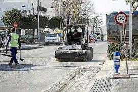 Corte de tránsito en Sant Jordi hasta el viernes por las obras en la red de agua