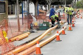 La instalación del gas natural avanza en ses Figueretes y Platja d'en Bossa