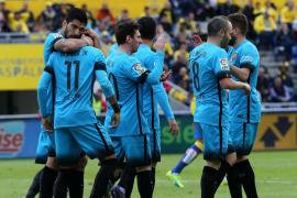 El tridente rescate al Barça en Las Palmas
