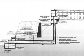 El proyecto del futuro Parador prevé un parquin subterráneo y un túnel por debajo de la muralla