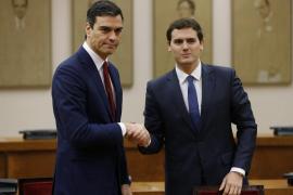 Sánchez y Rivera firman el pacto para un gobierno «reformista y de progreso»