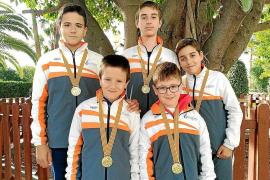 Cinco oros para el CN Sant Antoni