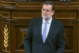 Rajoy acusa a Sánchez de representar una comedia porque su candidatura es ficticia