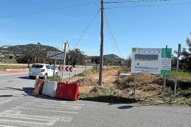 Comienza la mejora del acceso a Puig d'en Valls desde la carretera de Santa Eulària