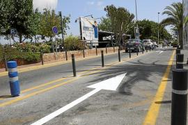 El aeropuerto de Eivissa eliminará las balizas que prohíben parar en carga y descarga