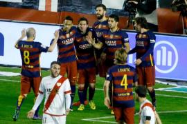 Messi lidera a un Barcelona sin brillo ante un Rayo con nueve