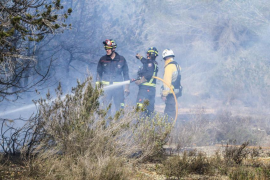 Primer incendio forestal del año