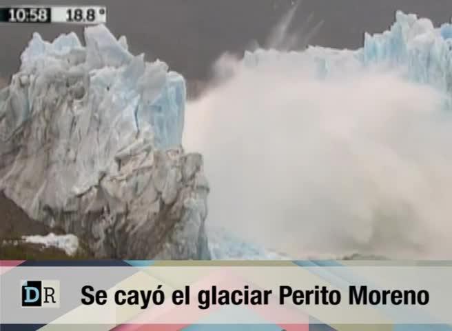 Espectacular derrumbe del «puente» del glaciar Perito Moreno
