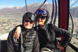 Michael Douglas y Catherine Zeta Jones, en la nieve ajenos a los rumores sobre la salud del actor