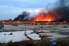 Declarado un importante incendio en una fábrica de galletas de Zaragoza