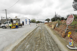 El alcalde de Sant Joan exige celeridad en los trabajos de la reforma de la carretera