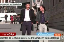 Sánchez e Iglesias se reúnen para ver si es posible volver a negociar