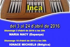 Inca acoge el II Festival de órgano de Sant Francesc