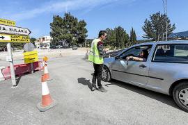 Cortan dos kilómetros de la carretera de Sant Joan por un cambio de nivel