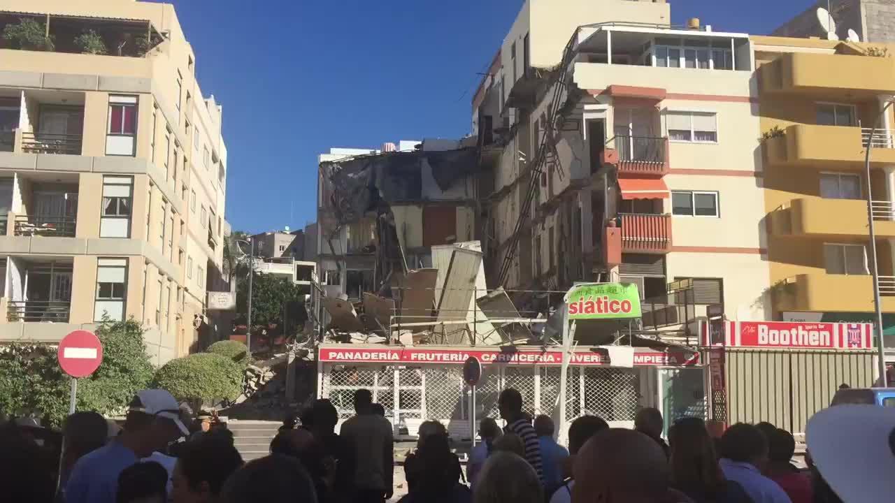 Se desploma un edificio en Tenerife