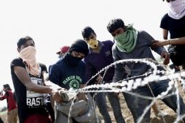 Trifulca entre los refugiados en Idomeni