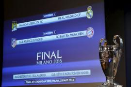 Manchester City-Real Madrid y Atlético de Madrid-Bayern de Munich, semifinales de Champions