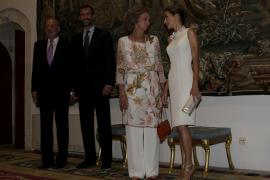 PALMA - MONARQUIA - CENA DE DESPEDIDA OFRECIDA POR LOS REYES EN EL PALACIO DE LA ALMUDAINA.
