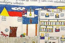Los niños pintan como quieren que sea Sant Antoni en un futuro