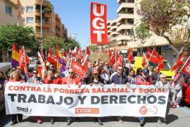 Unas 150 personas se manifiestan en Vila contra la pobreza salarial