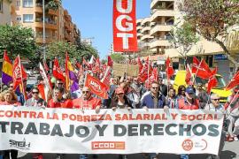 Escasa participación para reivindicar mayor calidad de empleo en el Primero de Mayo