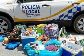 La Policía Local desmantela varios puntos de venta ambulante de bebidas alcohólicas en Cala Saladeta