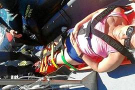 Una excursionista rescatada en es Portitxol sufrió una fractura en un pie
