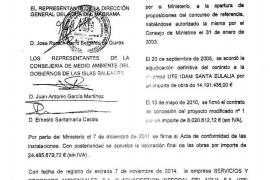 El Ministerio de Agricultura cedió la desaladora de Santa Eulària al Govern el pasado 15 de febrero