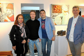 Fernando Martín presenta sus esculturas en la sede de la Fundación López Fuseya
