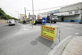 La entrada de Puig d'en Valls desde Eivissa comienza hoy su asfaltado