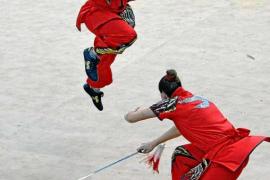 Tándem ibicenco en el continental de Wushu-Kungfu