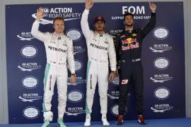 Hamilton saldrá por delante de Rosberg en Montmeló