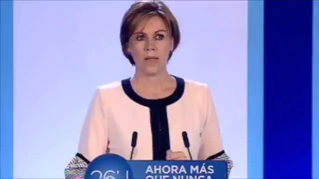 Cospedal dice que «los gobiernos extremistas apoyados por el PSOE están instalados en la parálisis»