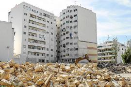 Acaba la demolición del antiguo colegio de Sa Graduada, que dará paso a los juzgados