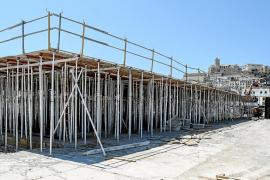 Acaban las obras de cimentación del nuevo edificio en la zona de es Martell