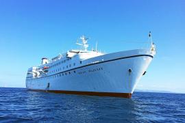 Los cruceros que han recalado en la Savina no fondearon sobre posidonia