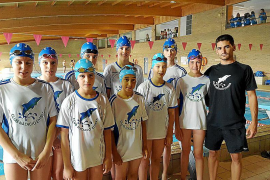 El CN Eivissa acude a Son Hugo con nueve jóvenes nadadores