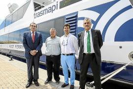Trasmapi presenta el nuevo catamarán de alta velocidad que navegará entre las Pitiüses