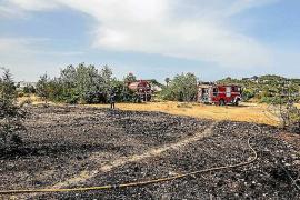 Dos incendios agrícolas queman 6.000 metros cuadrados de rastrojos