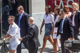 Las hijas de Obama, de compras por la Gran Vía de Madrid
