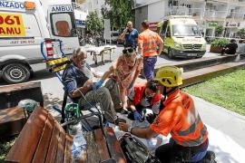 Cinco personas intoxicadas en el incendio de un piso en Santa Eulària
